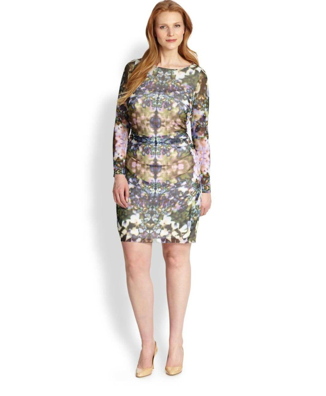 Kay Unger Plus-Size Printed Sheath Dress