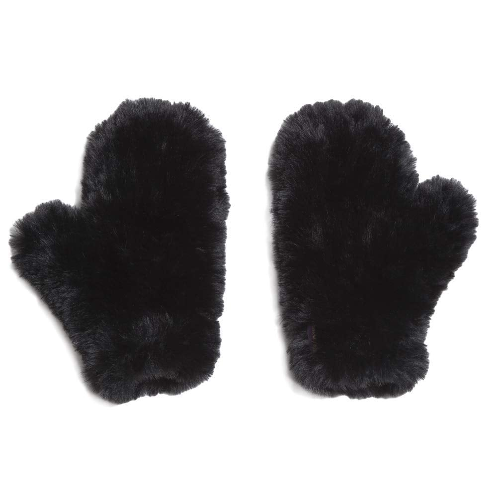eaed5920062 Glamourpuss NYC Knitted Faux Fur Mittens