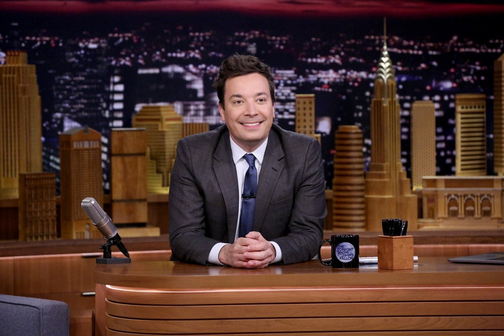 THE TONIGHT SHOW STARRING JIMMY FALLON -- Episode 0861 -- Pictured: Host Jimmy Fallon at his desk during