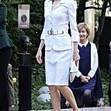 Queen Letizia's White Suit in 2016