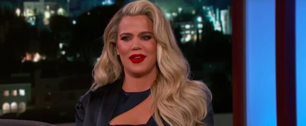 Khloe Kardashian on Jimmy Kimmel Live January 2018