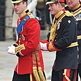 William and Harry Arriving at Westminster Abbey, 2011