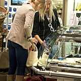 Gwyneth Paltrow and Cameron Diaz picked up a snack together at Heathrow airport.