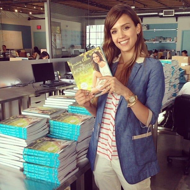 Jessica Alba got prepped for a big book signing in LA. Source: Instagram user jessicaalba