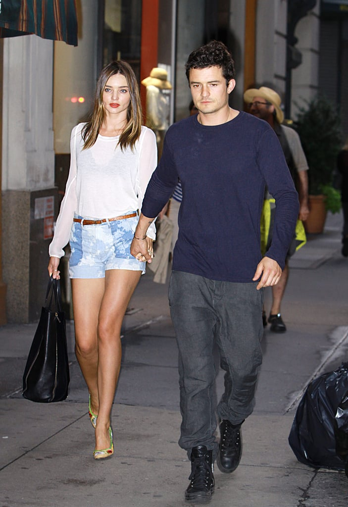 Miranda and Orlando held hands on the way to dinner in NYC in June 2012.