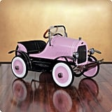 Dexton Deluxe Pink Roadster Pedal Car for Kids