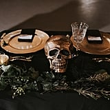 If Anyone Has a Black and Gold Halloween Wedding Like This, Please Send Us an Invite
