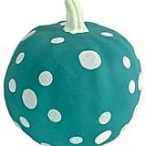Large Teal Dot Pumpkin