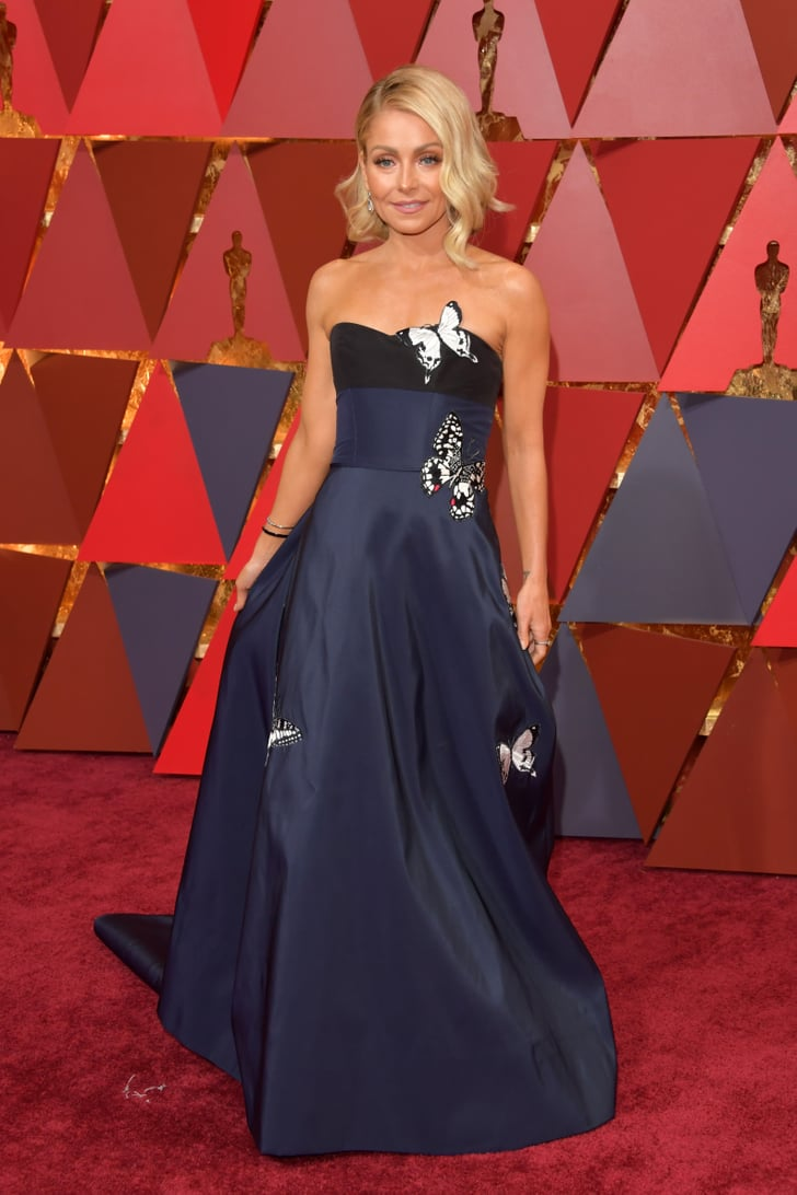 Kelly Ripa Oscars Red Carpet Dresses 2017 Popsugar