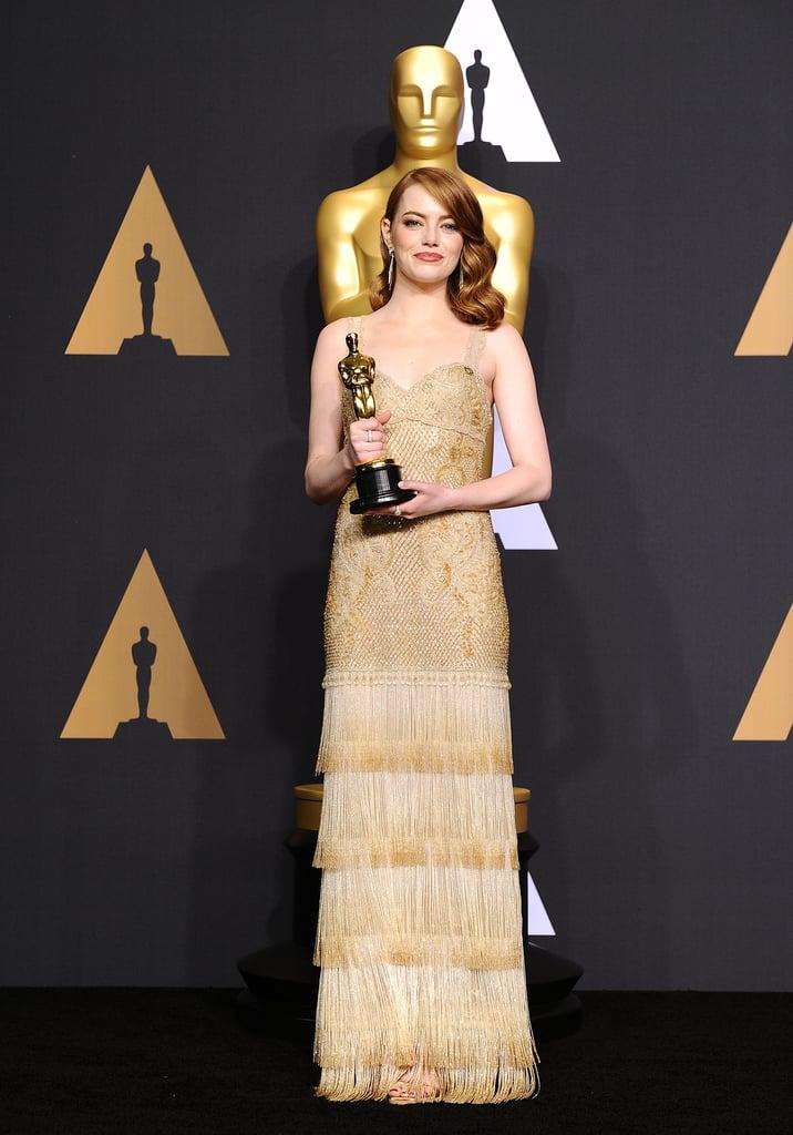 Emma Stone and Audrey Hepburn Givenchy Oscars Dresses
