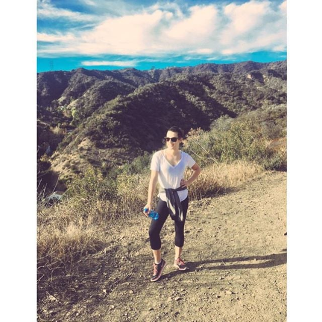 Another gorgeous weekend hike for Lea Michele.