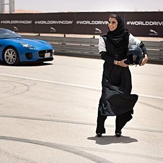 سائقة سيّارات سباق سعوديّة تجوب المضمار لتختبر أجمل لحظة قيا
