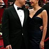 Maggie Gyllenhaal and Peter Sarsgaard exchanged loving looks on the red carpet.