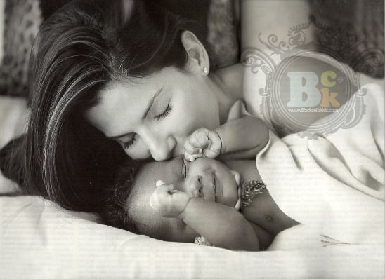Sandra Bullock and her new baby do People Magazine