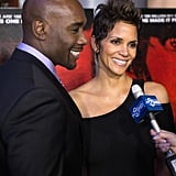 Morris Chestnut and Halle Berry answered questions on the red carpet.