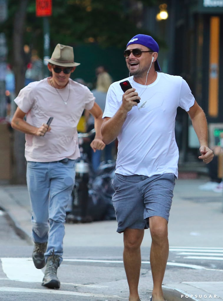 Leonardo DiCaprio Catching a Cab in NYC Pictures