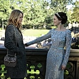 Blake Lively as Serena and Leighton Meester as Blair on Gossip Girl.