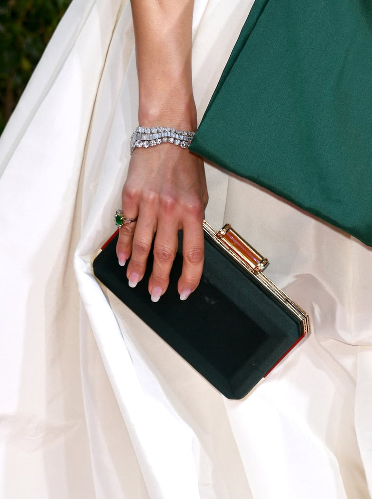 Jennifer Lopez's French Manicure at the 2020 Golden Globes