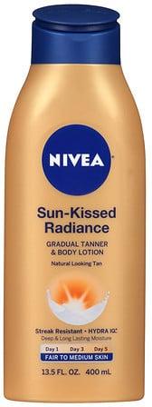 Nivea Sun Kissed Radiance Gradual Tanner & Body Lotion Fair to Medium