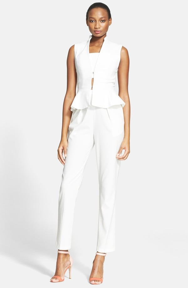 Alice + Olivia Peplum Vest and Jumpsuit