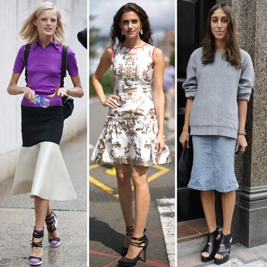 We spotted a bevy of street stylers showing off their fit-and-flare interpretations during New York and London Fashion Week. Which look fits your personality most? Keep clicking to shop our editors' picks for Fall.  Source: Greg Kessler, IMAXtree