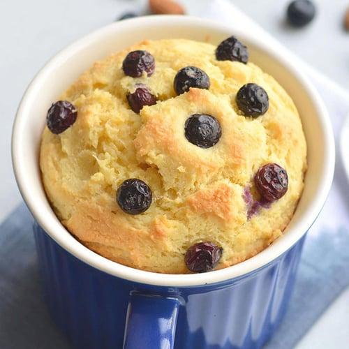 Keto Blueberry Lemon Mug Cake