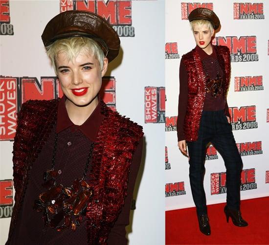 NME Awards 2008: Agyness Deyn