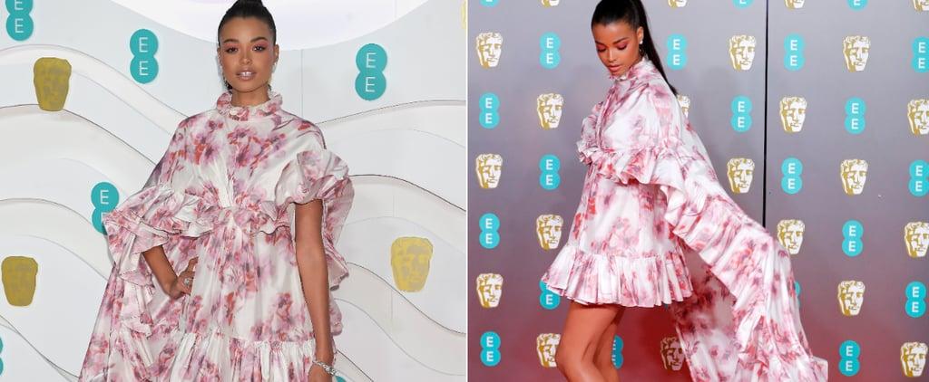 BAFTAs 2020: Ella Balinksa's Floaty Giambattista Valli Gown