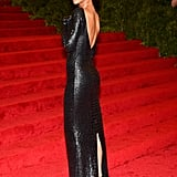 Rihanna was a vision in black Tom Ford.