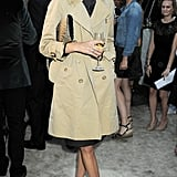 Alexa Chung in a Burberry trench