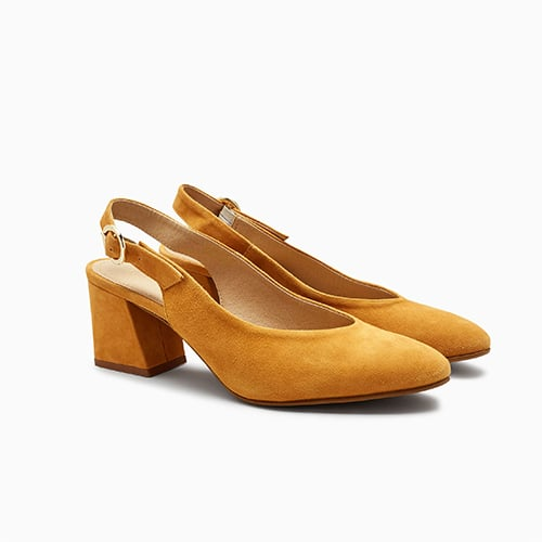 Suede Leather Slingback Shoes ($80)