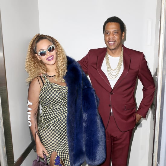 Beyonce Wearing Versace Unity Heels on JAY Z Birthday