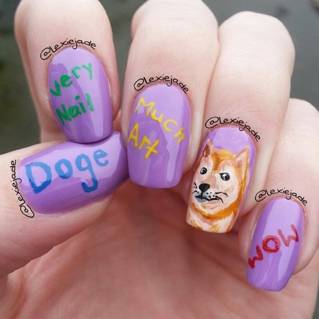 Doge Meme Nail Art Ideas Popsugar Beauty Photo 4
