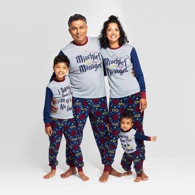 Target Harry Potter Holiday Mischief Managed Pajama Set