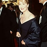 Meryl wore a shoulder-baring black gown to the 1996 Oscars.