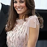 Kate's glossy, slightly waved blow dry shone at the ARK 10th Anniversary Gala Dinner in 2011.