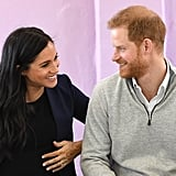 Prince Harry and Meghan Markle at a School in Morocco in 2019