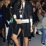 Jameela Jamil wore Daisystreet.co.uk red Solange boots at PPQ.