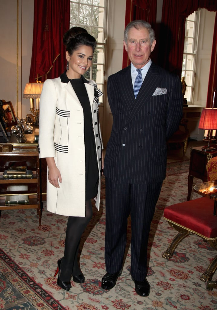 "Cheryl Cole was at Clarence House yesterday to meet with Prince Charles for tea and discuss the Cheryl Cole Foundation, which will help disadvantaged young people from the North-East. Her charity is set to launch in April with foundation director Kristina Kyriacou heading up efforts with the help of the Prince's Trust. Cheryl's demure look was fitting for the Royal setting compared to her sexy look at the Brit Awards. Cheryl is expected to attend the Prince's Trust Celebrate Success Awards in March, and said: ""Young people can go off the rails without the right care and support. I want my Foundation to help them realise their potential and get their lives on track."""