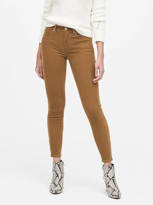 Mid-Rise Skinny Corduroy Pant