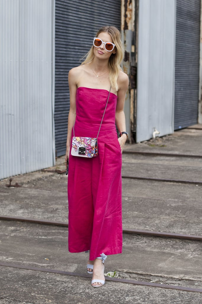A bright-coloured jumpsuit