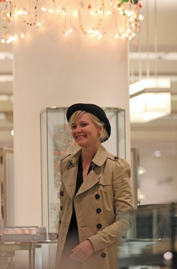 Kirsten Dunst does some last minute Christmas shopping for a hatr at Barney's of New York.