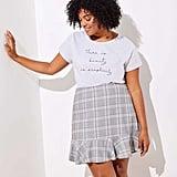 Loft Plus Plaid Ruffle Skirt