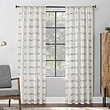 Scott Living 1-Panel Certo Geometric Embroidery Textured Sheer Window Curtain (52x84)