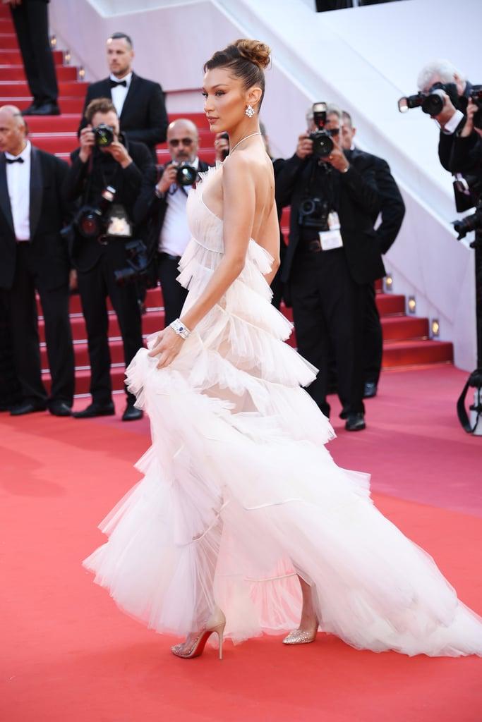 Bella Hadid S White Dior Gown At Cannes 2019 Popsugar