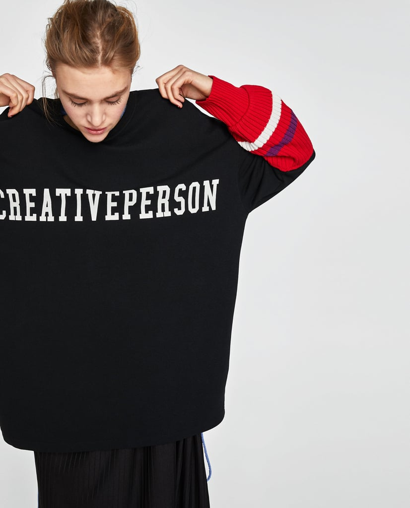 Zara Sweatshirt With Text