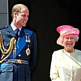Queen Elizabeth II and Prince William Pictures