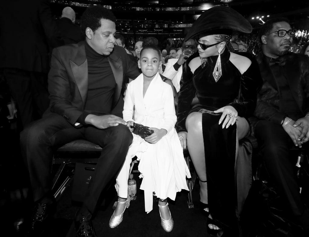 JAY-Z, Blue Ivy Carter, and Beyoncé
