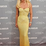 Donatella Versace wore — guess what?! — Versace.