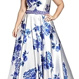 Mac Duggal Beaded Floral Ball Gown